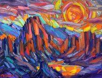 "Oasis Greg Dye 36"" x 48"" oil on canvas $3650"