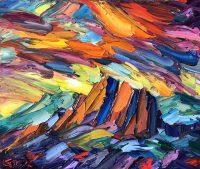 """Reach for the Sky Greg Dye 30"""" x 36"""" oil on canvas $2800"""