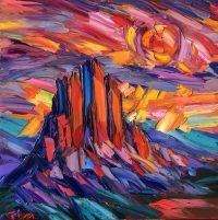 "Let the Sun Shine Down Greg Dye 36"" x 36"" oil on canvas $3100"