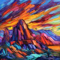 "Awakening Greg Dye 48"" x 48"" oil on canvas $4500"