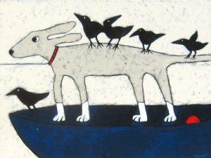 "Voyage by Jaime Ellsworth, 30"" x 40"", acrylic on canvas"