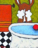 "Bath Jaime Ellsworth 20"" x 16"" acrylic on canvas $775"