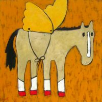 "Wings Jaime Ellsworth 36"" x 36"" mixed media on canvas $2700"