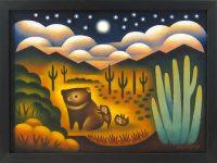 """Hog Heaven Sushe Felix 13.5"""" x 17.5"""" acrylic on panel $1150"""