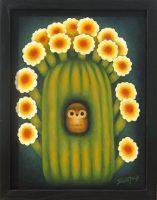 """Thorny Haven Sushe Felix 15.25"""" x 12.25"""" acrylic on panel $950"""