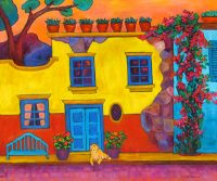 "The Colors of San Miguel Judy Feldman 30"" x 36"" oil on canvas $2750"