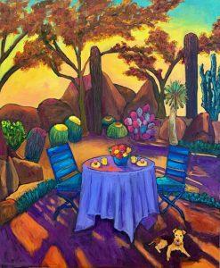 """The Golden Hour by Judy Feldman, 36"""" x 30"""", oil on canvas"""