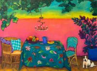 "Dining al Fresco Judy Feldman 18"" x 24"" oil on canvas $975"