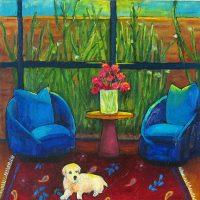"""Inside Out Judy Feldman  18"""" x 18"""" oil on canvas $725"""
