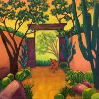 "Golden Barrel Garden Judy Feldman 36"" x 36"" oil on canvas $2750"