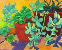 "Susan's Succulents Judy Feldman 16"" x 20"" oil on canvas $690"