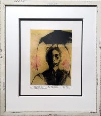 "La Ambrosia  Ka Fisher 16"" x 14"" aquatint/etching/print $375"