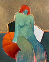 """Faith Lance Green 24"""" x 20"""" acrylic on canvas $1200"""