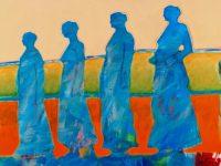 "Pilgrimage Lance Green 30"" x 40"" acrylic on canvas $2800"