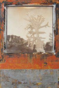 "Desert Series VIII Ryan Hale 6"" x 4"" acrylic on panel $100"
