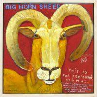 "Big Horn Sheep Melinda K. Hall 24"" x 24"" oil on canvas $3400"