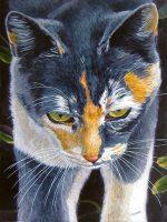 "Cat Walk Patricia Hunter 16"" x 12"" watercolor on paper $500"