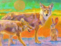 "Coyote Junction Sarah Webber 30"" x 40"" mixed media $3975"