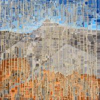 "Towering Melissa Johnson 48"" x 48"" acrylic on canvas $3150"