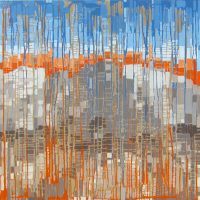 "Layers Melissa Johnson 48"" x 48"" acrylic on canvas $3150"