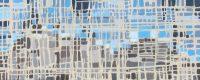"""Fractured Mountain #1 Melissa Johnson 12"""" x 30"""" acrylic on canvas $650"""