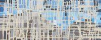 """Fractured Mountain #2 Melissa Johnson 12"""" x 30"""" acrylic on canvas $650"""