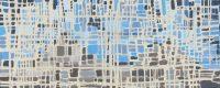 """Fractured Mountain #3 Melissa Johnson 12"""" x 30"""" acrylic on canvas $650"""