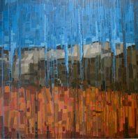 "Tucson Mountains Melissa Johnson 48"" x 48"" acrylic on canvas $3300"