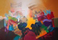 """Kachina Mesa Jack Roberts 48"""" x 72"""" acrylic on canvas $5000"""