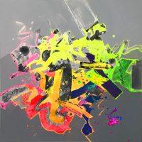 "Gamma Jack Roberts 24"" x 24"" acrylic on canvas $950"