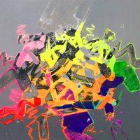 """Delta Jack Roberts 24"""" x 24"""" acrylic on canvas $950"""