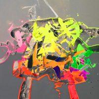 """Epsilon Jack Roberts 24"""" x 24"""" acrylic on canvas $950"""