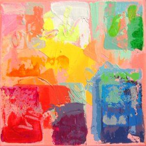"Sedona by Jack Roberts, 8"" x 8"", acrylic on canvas"