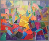 "Cimarron Jack Roberts 50"" x 60"" acrylic on canvas $4800"