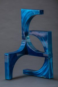 "The Second Wave by Ken Kasten, 44"" x 23"" x 18"", painted steel w/ clear coat finish, $5900"