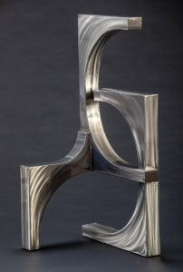 "Silver Wave by Ken Kasten35"" x 17.5"" x 19""polished steel w/ clear coat finish$5500"