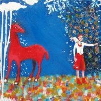 "Soñando con Mariposas Ana Marini-Genzon 12"" x 12"" acrylic on canvas $500"