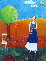 "Spring Blossoms Ana Marini-Genzon  40"" x 30"" oil on canvas $2000"