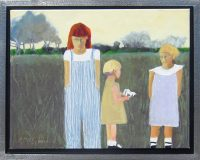 """The Babysitter Peggy McGivern 18.25"""" x 22.25"""" oil on canvas $1900"""