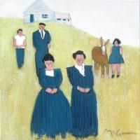 """La Familia Peggy McGivern 12"""" x 12"""" oil on canvas $975"""
