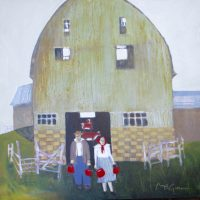 """Four Buckets of Grain Peggy McGivern 36"""" x 36"""" oil on canvas $5200"""