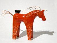 "Red Horse Michelle MacKenzie 7"" x 9"" x 2"" ceramic $101"