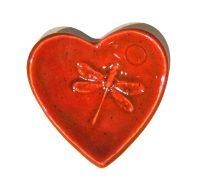 "Heart Bowl Michelle MacKenzie 3"" x 3"" ceramic $11"