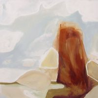 "Tom's Thumb with Clouds Tierney M. Miller  36"" x 36"" oil on canvas $2350"