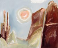 """Cathedral Rock Moonrise - Sedona Tierney M. Miller 30"""" x 36"""" oil on canvas $1950"""