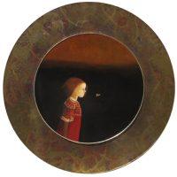 "Dusk Monika Rossa 17"" oil on board with copper acrylic frame $1100"