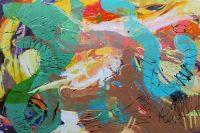 """Journey 1 Monika Rossa 48"""" x 72"""" oil on canvas $4400"""