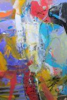 """Journey II Monika Rossa 72"""" x 48"""" oil on canvas $4400"""