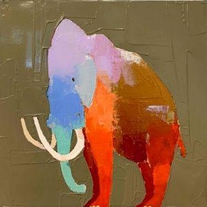 "Hey Wooly by Trevor Mikula, 12"" x 12, acrylic on canvas"