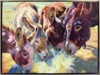 """Mind Your Manners Sarah Webber 31-1/2"""" x 41-1/2"""" oil on canvas $4975"""